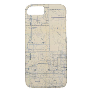 Coque iPhone 7 Carte de route de bicyclette du Wisconsin 3