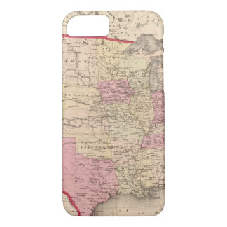 Coque iPhone 7 Carte des Etats-Unis 5