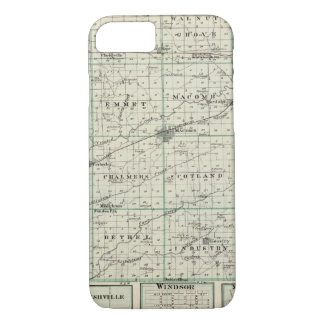 Coque iPhone 7 Carte du compté de McDonough, Rushville