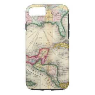 Coque iPhone 7 Carte du Mexique, Amérique Centrale