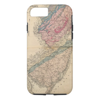 Coque iPhone 7 Carte géologique de New Jersey