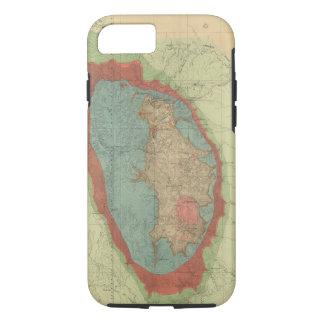 Coque iPhone 7 Carte géologique du Black Hills du Dakota