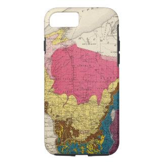 Coque iPhone 7 Carte géologique du Wisconsin