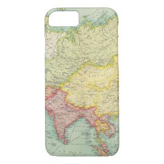 Coque iPhone 7 Carte politique d'atlas de l'Asie