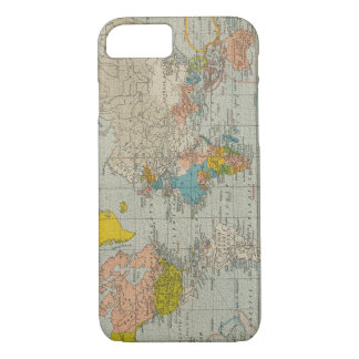 Coque iPhone 7 Carte vintage 1910 du monde