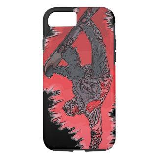 Coque iPhone 7 Cas artistique de l'iPhone 7 de surfeur rouge