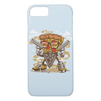 Coque iPhone 7 Cas brillant de téléphone de bandit de pizza