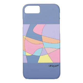 Coque iPhone 7 Cas de couleurs en pastel de remous, beau et chic