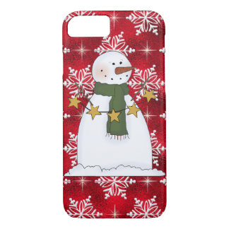 Coque iPhone 7 Cas de l'iPhone 7 de bonhomme de neige de Noël à