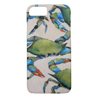 Coque iPhone 7 Cas de l'iPhone 7 de crabe bleu
