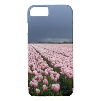 Coque iPhone 7 cas de l'iPhone 8 - champ des tulipes