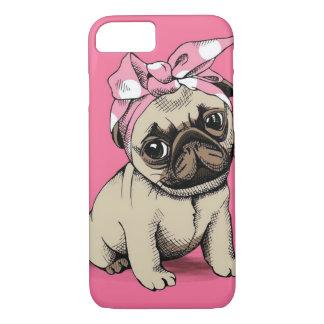 Coque iPhone 7 Cas de pin-up de l'iPhone 7 de chien de carlin