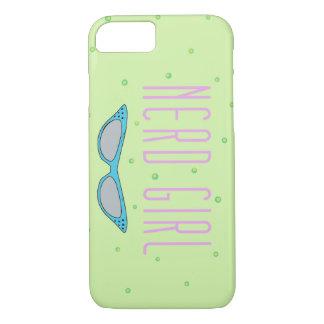 Coque iPhone 7 Cas de téléphone d'amusement - fille nerd