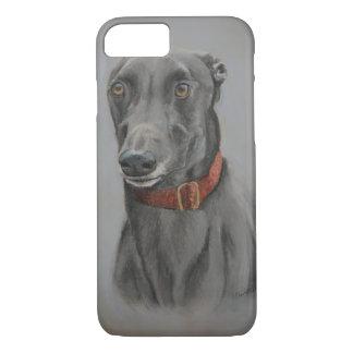 Coque iPhone 7 Cas de téléphone d'art de chien de lévrier