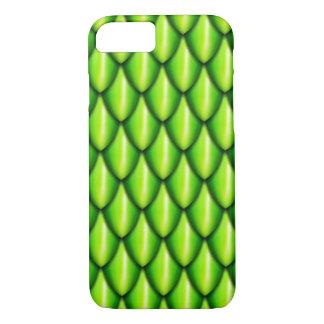 Coque iPhone 7 Cas de téléphone d'échelle de dragon vert