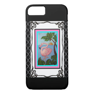 Coque iPhone 7 Cas de téléphone du paradis deux de flamant
