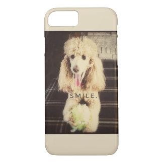 Coque iPhone 7 Cas de téléphone portable de caniche de sourire