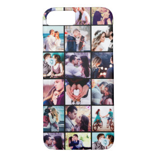 Coque iPhone 7 Cas doux de l'iPhone 7 de collage de photo de