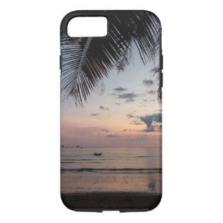 Coque iPhone 7 Cas dur de l'iPhone 7 de paume et de plage