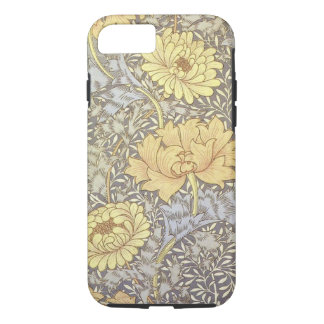 Coque iPhone 7 Cas dur de l'iPhone X/8/7 de chrysanthème