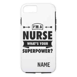 """Coque iPhone 7 CAS DUR d'IPHONE 6/6S de """"infirmière"""""""