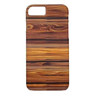 Coque iPhone 7 Cas en bois de l'iPhone X/8/7 de grange à peine là