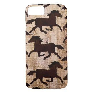 Coque iPhone 7 Cas en bois occidental de l'iPhone 7 de grange de