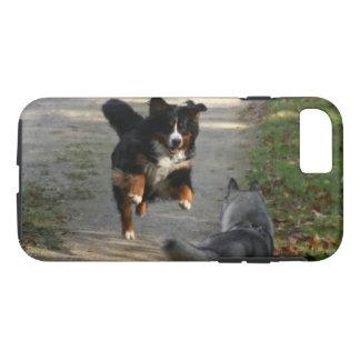 Coque iPhone 7 Cas enroué de téléphone de la Réunion de chien de
