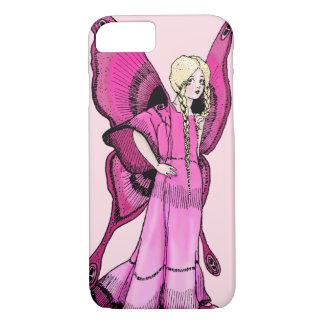Coque iPhone 7 Cas féerique rose de téléphone