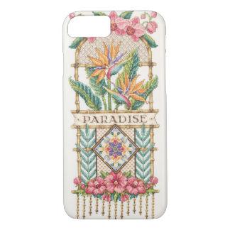 Coque iPhone 7 Cas floral de paradis