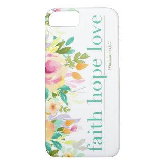 Coque iPhone 7 Cas floral de téléphone de l'iPhone 7 de l'amour |