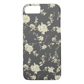 Coque iPhone 7 Cas floral vintage de l'iPhone 7