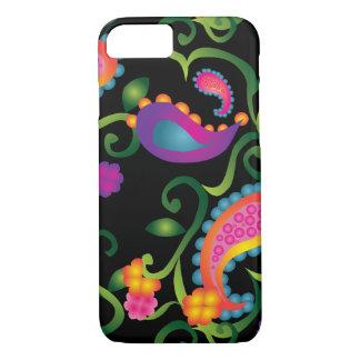 Coque iPhone 7 Cas floraux de l'électronique de vignes de Paisley