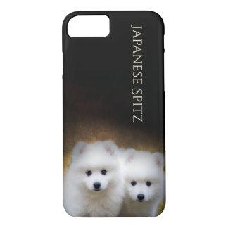 Coque iPhone 7 Cas japonais de téléphone de chiots de Spitz