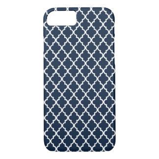 Coque iPhone 7 Cas marocain de l'iPhone 7 de mod de motif de bleu