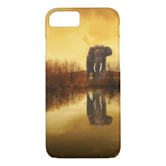 Coque iPhone 7 Cas mignon de réflexion d'éléphant