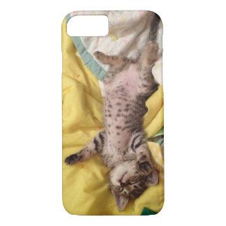 Coque iPhone 7 Cas mignon de téléphone de chaton de sommeil