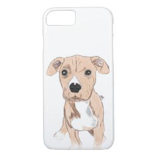 Coque iPhone 7 Cas mignon de téléphone de chien, illustration de