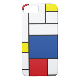 Coque iPhone 7 Cas minimaliste de l'iPhone 6 d'art de Mondrian de