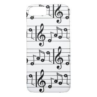Coque iPhone 7 Cas musical de téléphone de chanteur d'alto