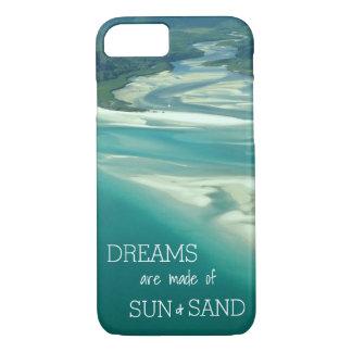 Coque iPhone 7 Cas orienté de téléphone de plage avec l'arrière -
