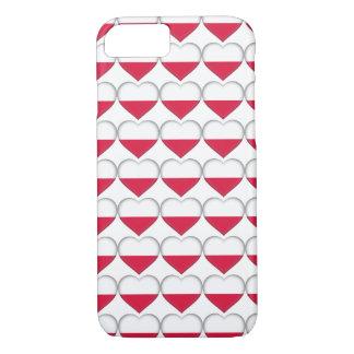 Coque iPhone 7 Cas polonais de téléphone d'amour
