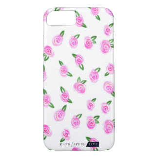 Coque iPhone 7 Cas rose de téléphone de roses