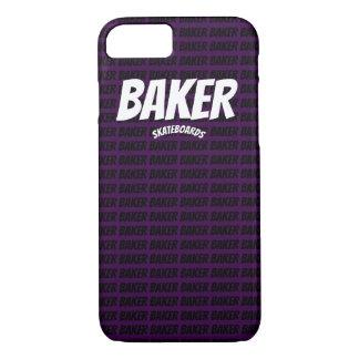Coque iPhone 7 Cas skatebording de téléphone de boulanger pourpre