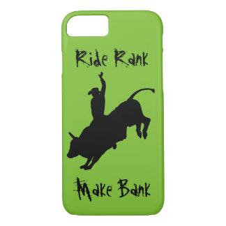 Coque iPhone 7 Cas s'opposant de rang de tour de cowboy de rodéo