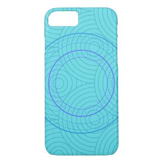 Coque iPhone 7 Cas turquoise de téléphone de cercles