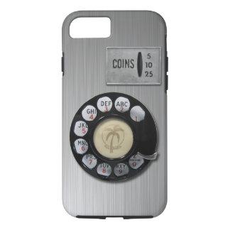 Coque iPhone 7 Cas vintage de l'iPhone 7 de cadran rotatoire
