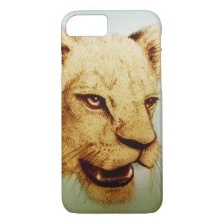 Coque iPhone 7 cas vintage d'iPhone - lion
