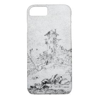 Coque iPhone 7 Castel Cogolo par Andar un Trento (stylo et encre