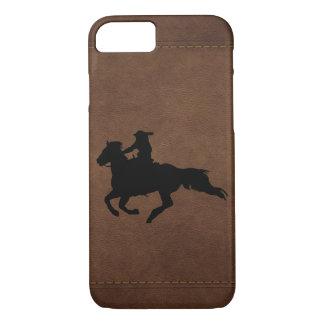 Coque iPhone 7 Cavalier galopant de cheval de rodéo occidental